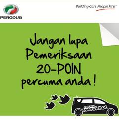 Dapatkan check up kereta percuma guna FB & Twitter! profile image