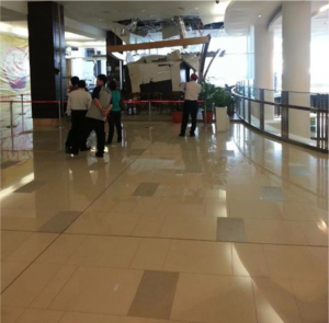 Paradigm Mall Again???  Whole Aircond System Fell Down. Magician Needed To Fix This!