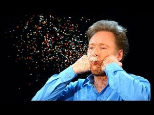Conan O'Brien & The Slow Mo Guys Do Things the Slow Way. Like Really, Really Slow..