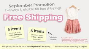 Enjoy this great promotion with RM8 less for all items and free shipping! :D