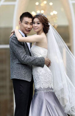 Malaysian Star Lee Chong Wei Gets Married To Wong Mew Choo