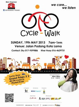 Befrienders Penang Cycle & Walk Event for Public Awareness