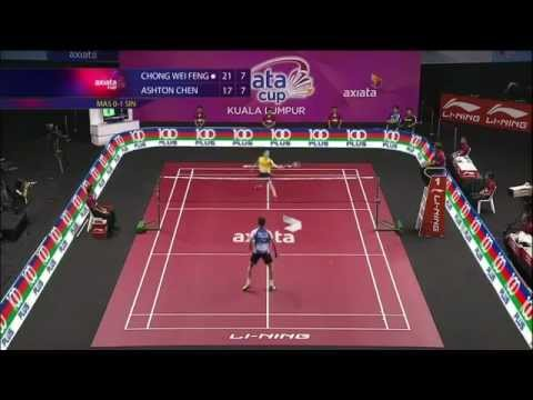 Malaysian Badminton Trick Shot Pwns Singaporean Player