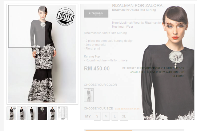 Rizalman and Zalora's Baju Kurung for Company's Dinner Party!