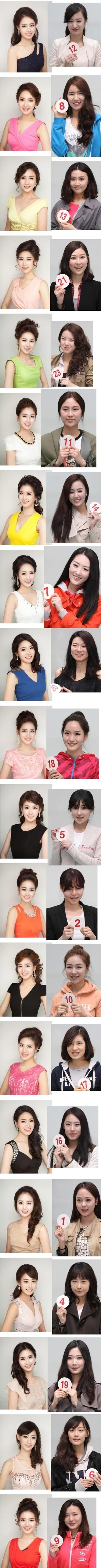 20 Contestants, 1 Face: Their Real Faces Revealed