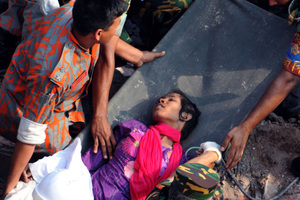 Bangladeshi Woman Rescued After 17 Days in the Rubble.