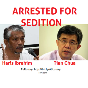 [BREAKING] Haris Ibrahim And Tian Chua Arrested For Sedition