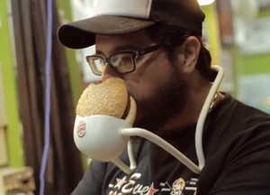 This Hands-Free Takes Burger Eating To A Whole New Level